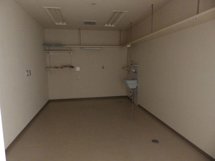 2階事務室には手洗付