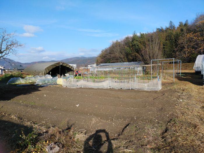 北側に手頃な家庭菜園付き