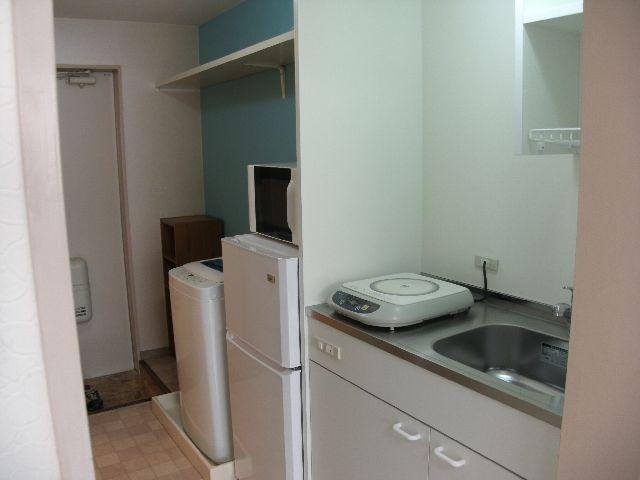 キッチンにはIHコンロがついています。