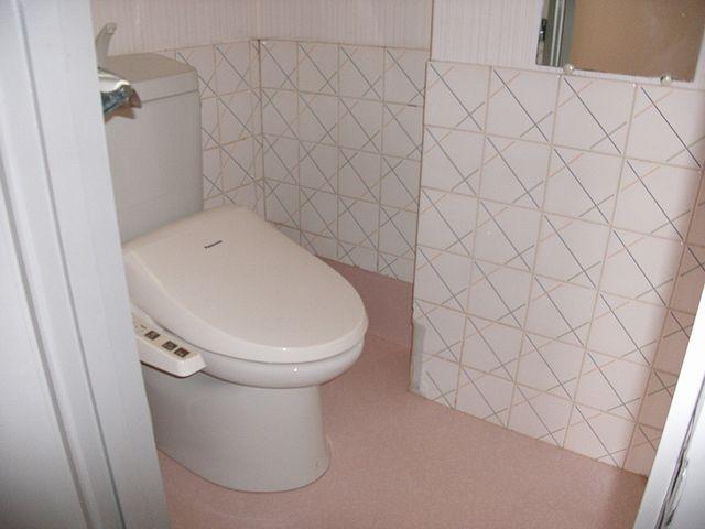 トイレはウィッシュレットです。
